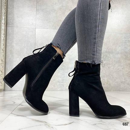 Осенние ботинки женские на каблуке, фото 2