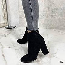 Замшевые ботинки на каблуке, фото 3