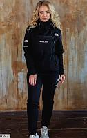 Спортивный костюм женский осень/зима трехнитка с начесом 48-54 размеров черный