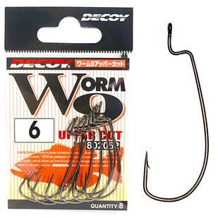 Крючок Офсетный Decoy Worm9 Upper Cut #6 (9 шт/уп)
