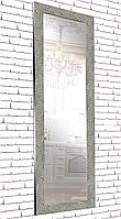 Зеркало настенное в раме Factura Textured silver cubes 60х174 серебро
