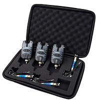 Набор 3х электронных сигнализаторов поклёвки и свингеров в кейсе Hirisi