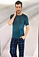 Комплект мужской домашней одежды,  х/б (футболка короткий рукав+штаны) Aydogan