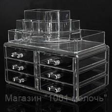Акриловый органайзер для косметики Cosmetic Storage Box 6 Drawers, фото 3