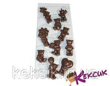 Молд шокол пластик мишки ассорти