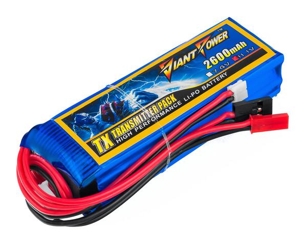 Аккумулятор Giant Power Li-Pol 2600mAh 11.1V 3S 3C 25x31x97мм Futaba+JST для передатчиков
