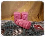 Набір воскових свічок з кольорової вощини, фото 4