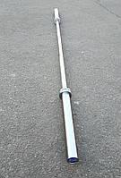 Гриф олимпийский для тяжелой атлетики и кроссфита 220 см, 650 кг, 6 подшипников, 28 мм