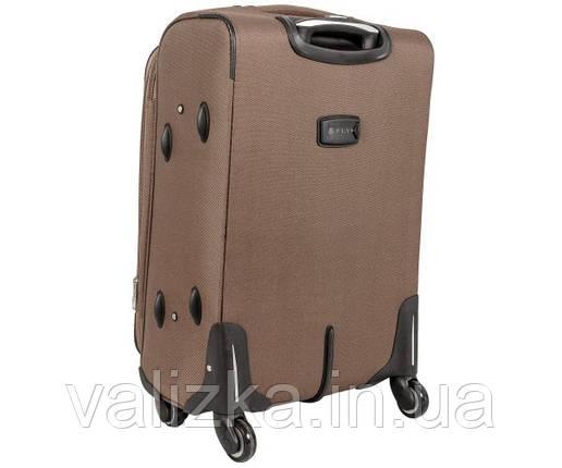 Текстильный чемодан большой Golden Horse на колесиках шампань, фото 2