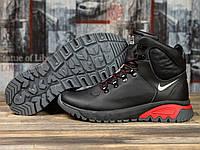 Мужские зимние ботинки на меху в стиле Nike ACG, натуральная кожа, черные *** 41 (27 см)