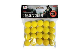 Пульки для помпової зброї ZC05 (192шт/4) у вигляді шару-піни для бластерів, 20 шт, в пакеті 19*15*4 см