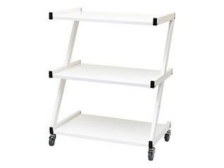 Візок косметологічний білий / маніпуляційний на 3 полиці модель 108 метал