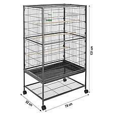 Большая клетка для попугаев Bird House L - 131 x 78 x 52 см, фото 3