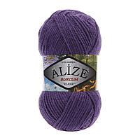 Акриловая пряжа (100%-акрил, 100 г/210 м) Alize Burcum Klasik 44(тёмн.фиолетовый)