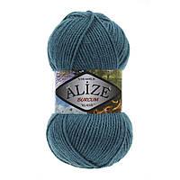 Акриловая пряжа (100%-акрил, 100 г/210 м) Alize Burcum Klasik 212(петроль)