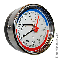 Термоманометр осевой МТ-80-ТМ-О, 4 бар / 120 С