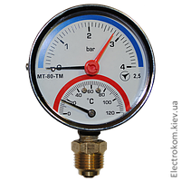 Термоманометр радиальный МТ-80-ТМ-Р, 4 бар / 120 С