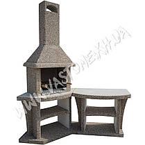 Камин барбекю, печь-гриль «Каир» угловой, фото 3
