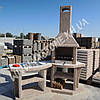 Камин барбекю, печь-гриль «Каир» угловой, фото 4