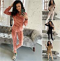 Женский велюровый спортивный костюм 2131