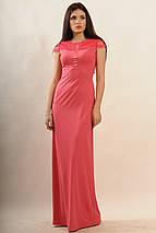 Женское платье-макси с кружевом по спинке (Канны ri), фото 2