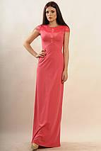 Женское платье-макси с кружевом по спинке (Канны ri), фото 3