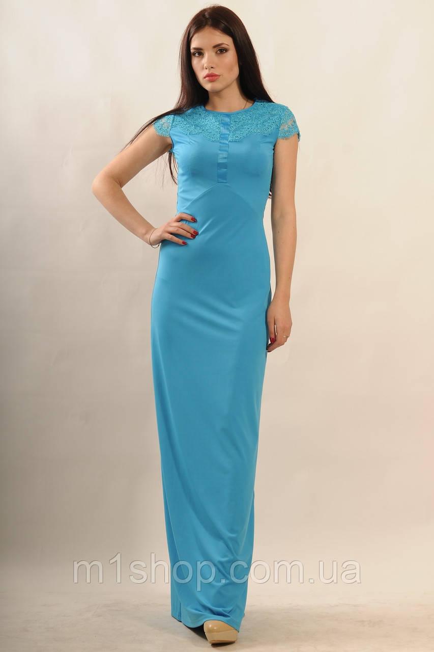 Женское платье-макси с кружевом по спинке (Канны ri)