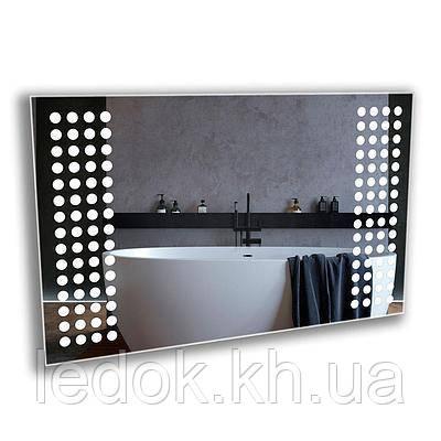 Зеркало с Led подсветкой для ванной Pixel 80*60см
