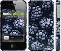 """Чехол на iPhone 4s Морозная ежевика """"2744c-12"""""""