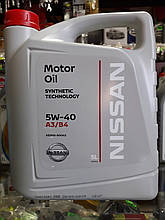 Моторне масло NISSAN SN/CF 5W-40, 5лит.