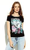Блуза женская Afrah Zaps черная. Коллекция весна-лето 2020