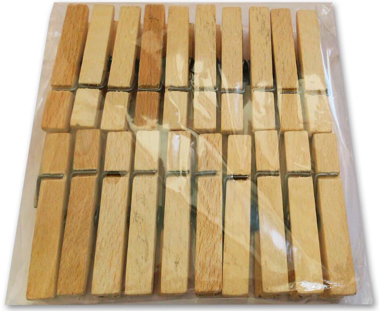 Прищепки деревянные, 20 шт./уп.