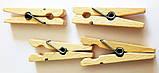 Дерев'яні прищіпки, 20 шт/уп., фото 2