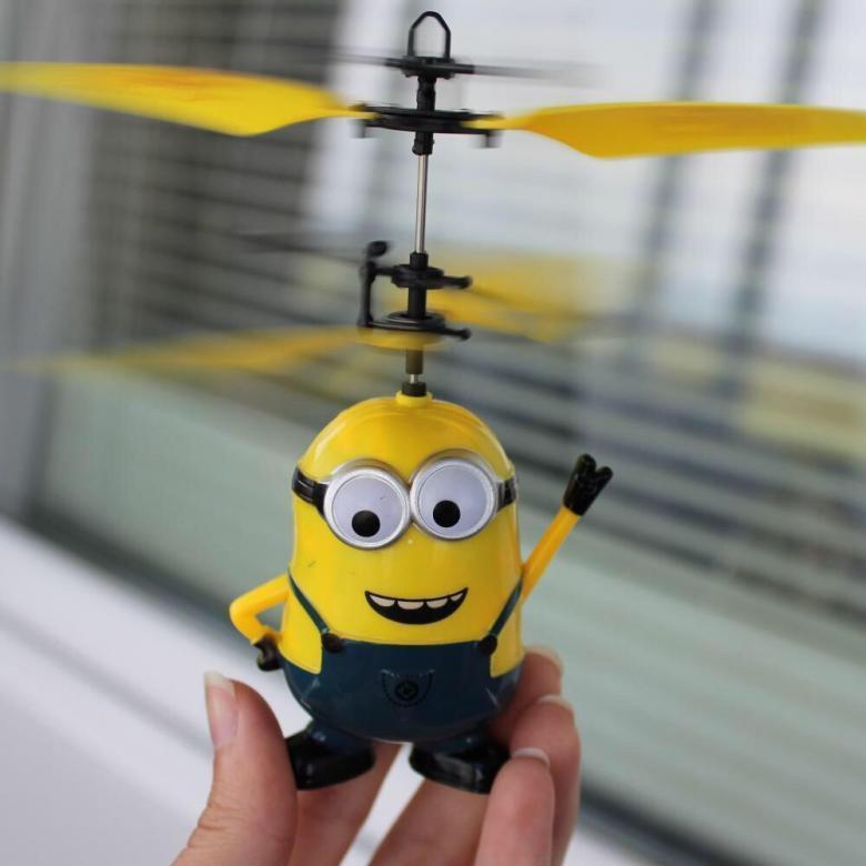 Интерактивная игрушка diy летающий миньон!!!