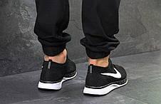 Чоловічі кросівки Nike Flyknit Racer,сітка,чорно білі 43,44 р, фото 3