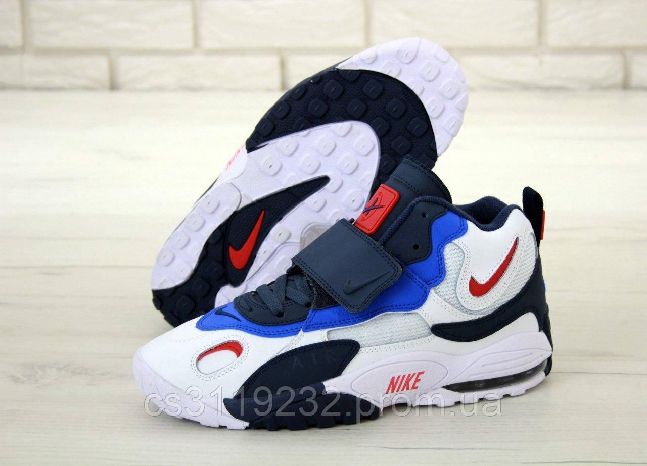 Мужские кроссовки Nike Air Max Speed Turf (бело-синие)