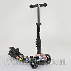 Самокат-беговел 5в1 Best Scooter с родительской ручкой, светящиеся колеса 15600, фото 2