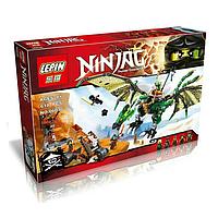 """Конструктор Lepin 06036 (Аналог Lego Ninjago 70593) """"Зелёный энерджи дракон Ллойда"""" 618 деталей, фото 1"""