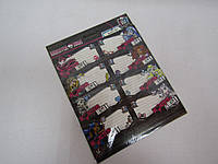 Наклейки для тетрадей, 77x39мм, 2*8 шт. в пакете 20х16см /24/48/288/
