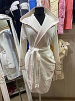 Халат женский бамбуковый (натуральный), S, XL, Soft Show
