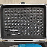 Акумуляторна викрутка з набором біт в кейсі, фото 4