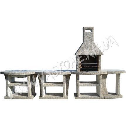 """Камин барбекю уличный """"Каир"""" с малым и двумя большими столами, фото 2"""