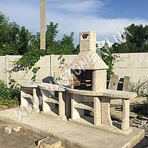 """Камин барбекю уличный """"Каир"""" с малым и двумя большими столами, фото 3"""