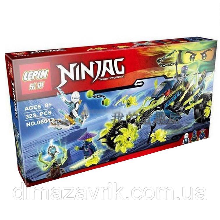 "Конструктор Lepin 06012 (Аналог Lego Ninjago 70730) ""Засада на мотоцикле"" 323 детали"