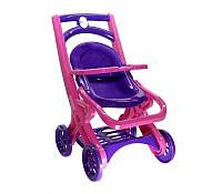 Коляска для кукол Долони (0122/02) Розово-фиолетовая