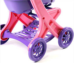 Коляска для кукол Долони (0122/02) Розово-фиолетовая, фото 3