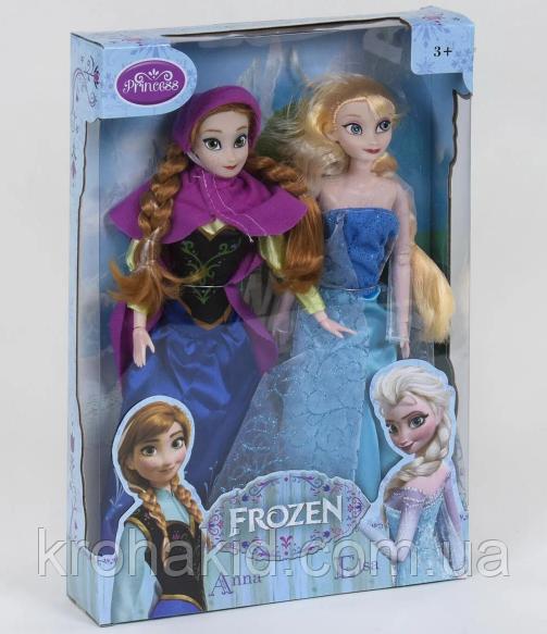 """Куклы Холодное Сердце""""Анна и Эльза""""в наборе 2шт, на шарнирах ZT 8818-1."""