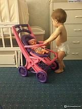 Коляска для кукол Долони (0121/02) Розово-фиолетовая, фото 3