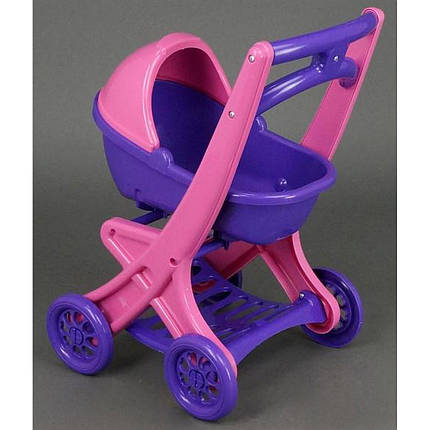 Коляска для кукол Долони (0121/02) Розово-фиолетовая, фото 2