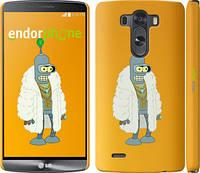 """Чехол на LG G3 dual D856 Футурама. Бендер в шубе """"664c-56"""""""